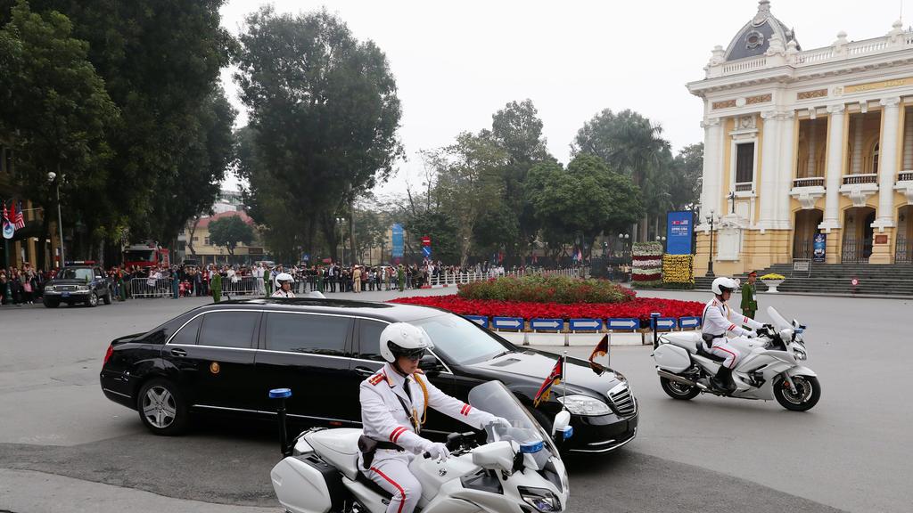 Abreise nach dem Gipfel in Hanoi