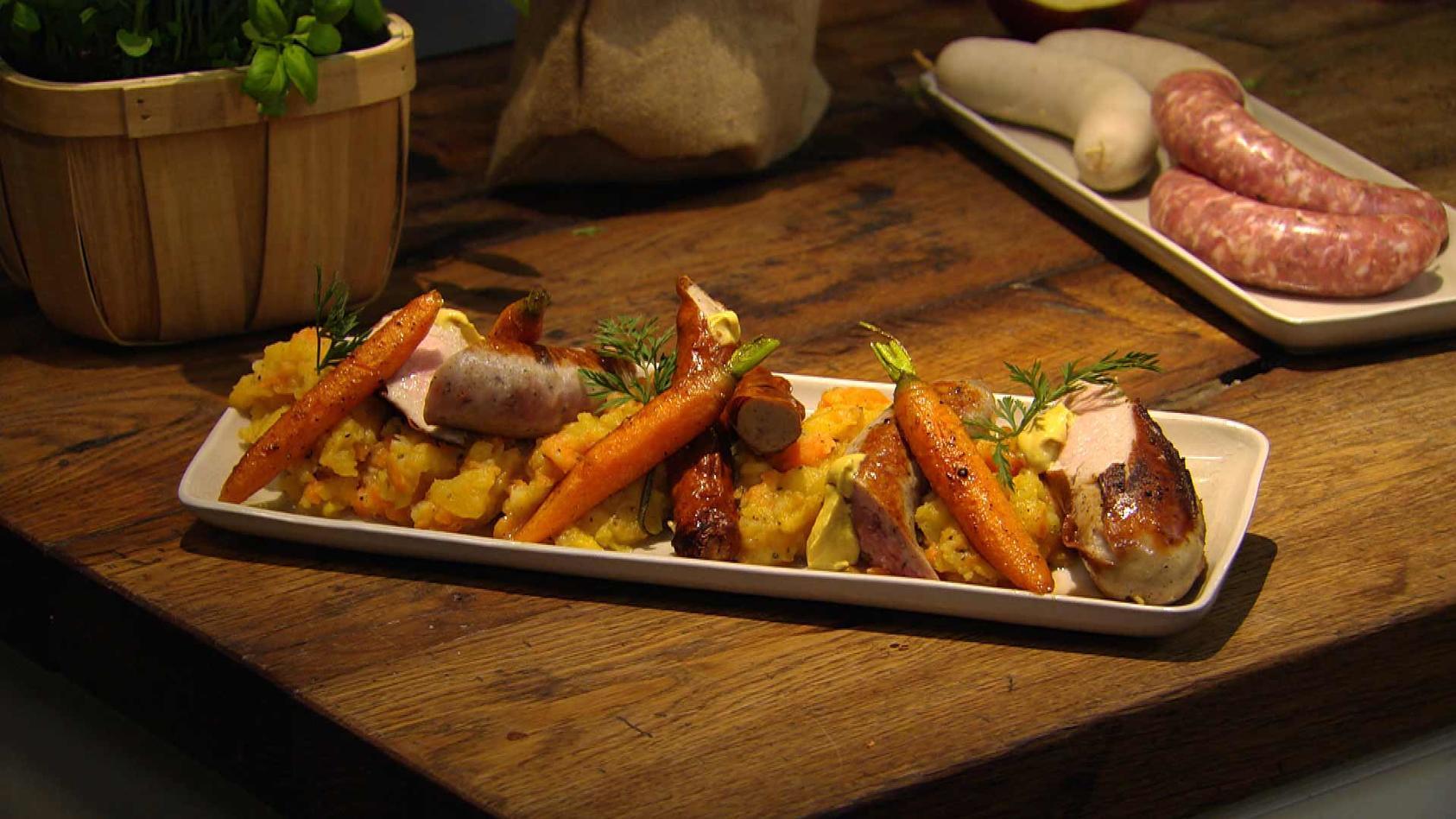 Jetzt geht's um die Wurst!: Bratwurst mit Steckrübenpüree