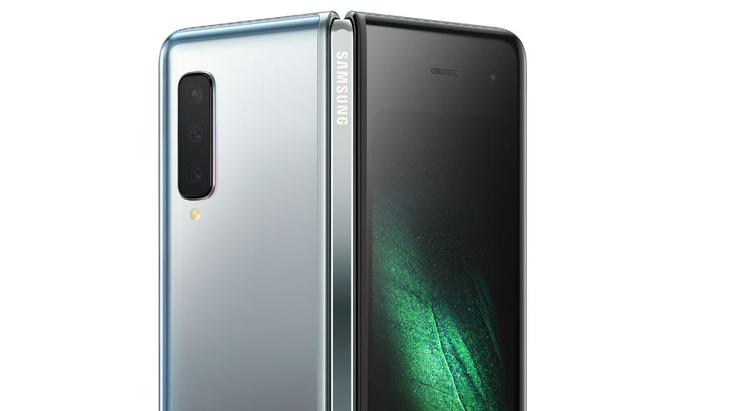 Samsung's new Galaxy Fold smart phone which features the world's first 7.3-inch Infinity Flex Display that works with the next-generation 5G networks is seen in this image released in San Francisco, California, U.S. February 20, 2019.   Courtesy Sams