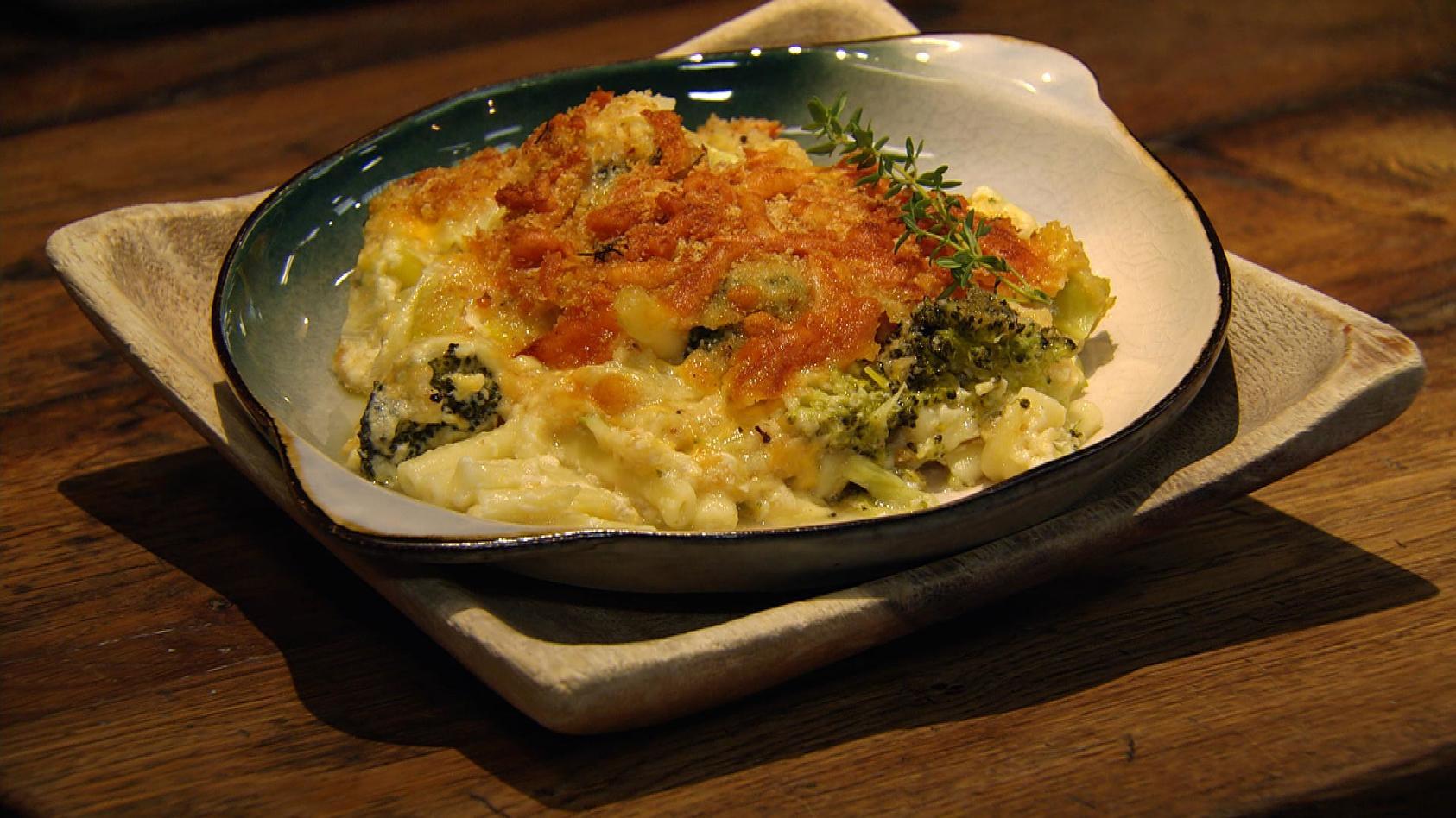 Wir lieben Nudeln: Makkaroni-Käse-Auflauf mit Gemüse