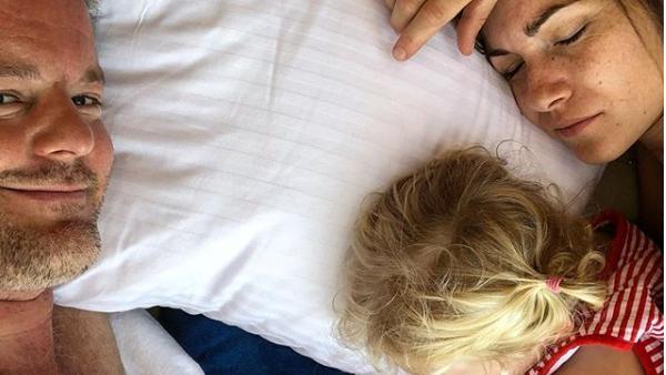 André und Shari Dietz mit ihrer Tochter Mari (5)