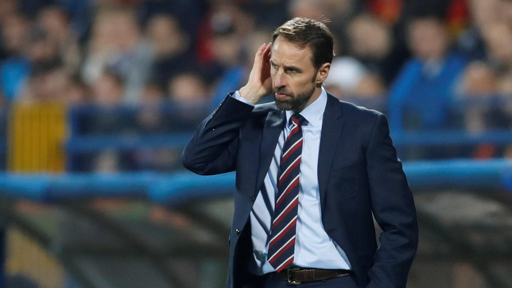 Soccer Football - Euro 2020 Qualifier - Group A - Montenegro v England - Podgorica City Stadium, Podgorica, Montenegro - March 25, 2019  England manager Gareth Southgate during the match             Action Images via Reuters/Carl Recine