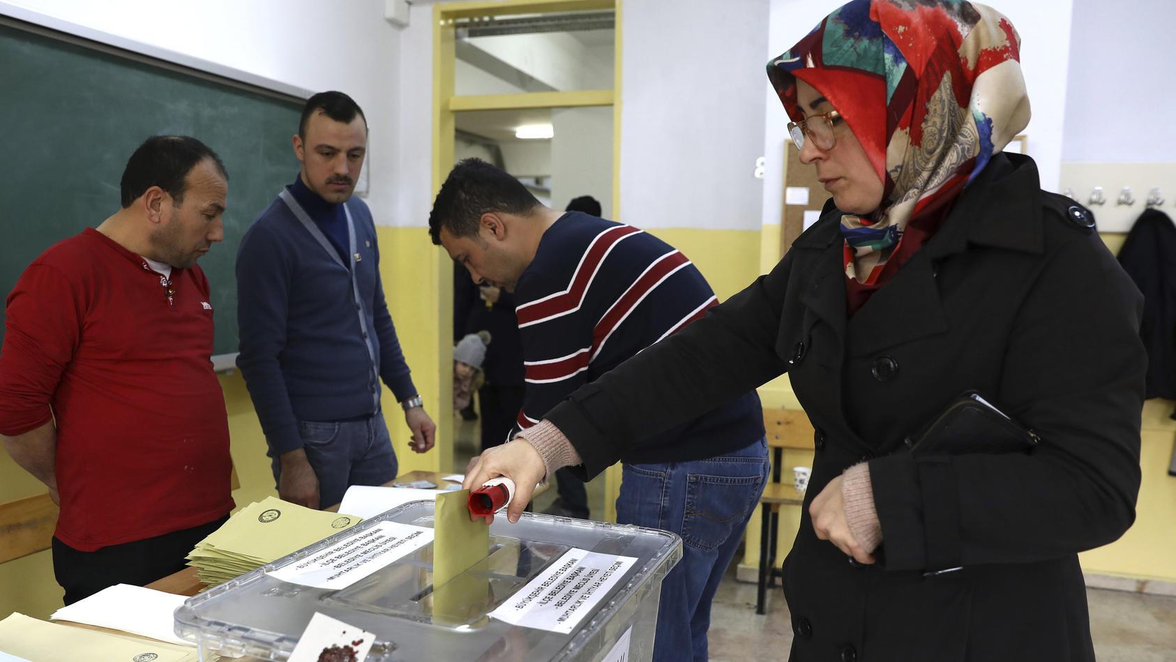 Kommunalwahlen in der Türkei.