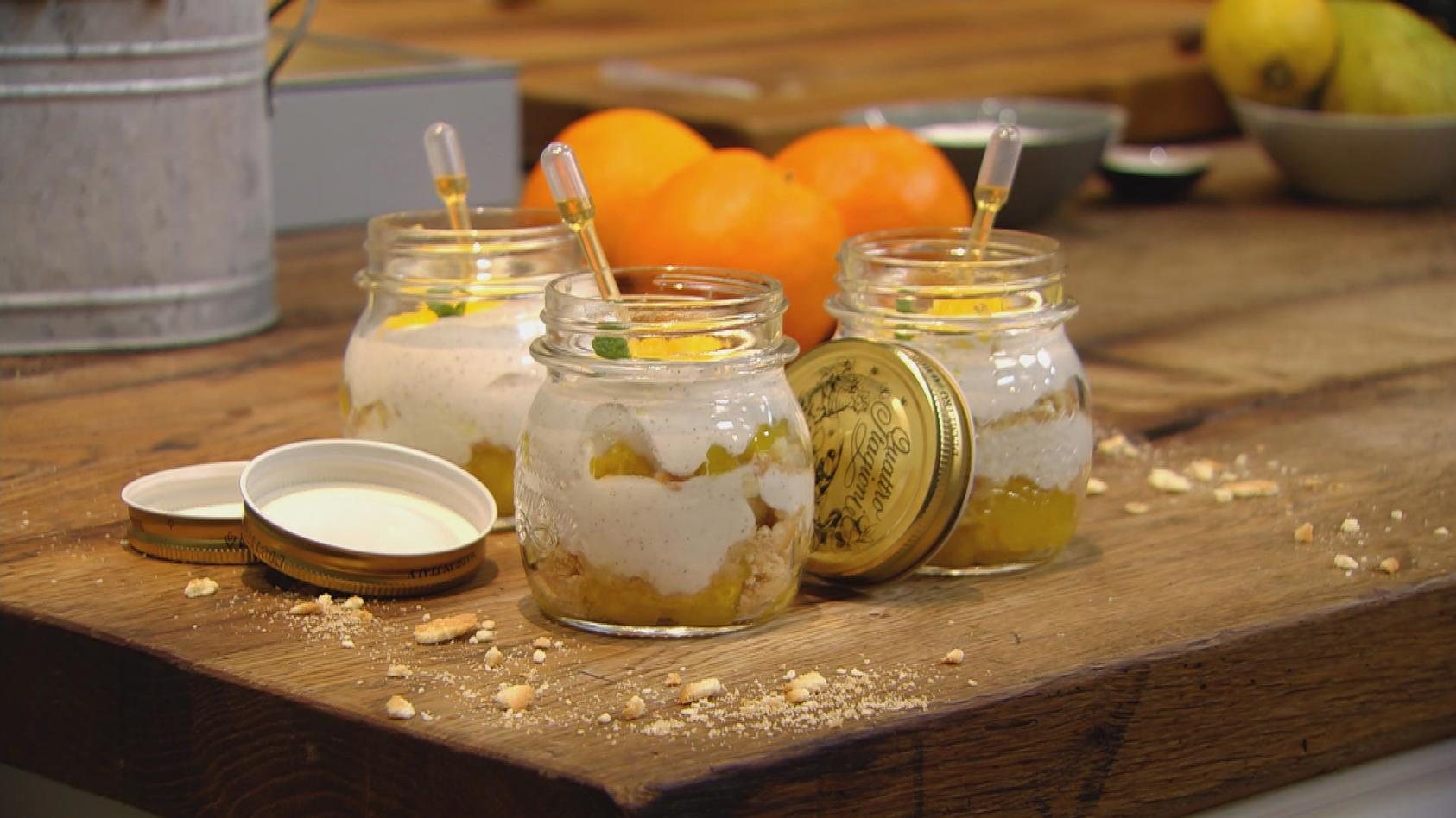 Allererste Sahne – Cremiger geht´s nicht: Joghurt-Sahne mit Orangen