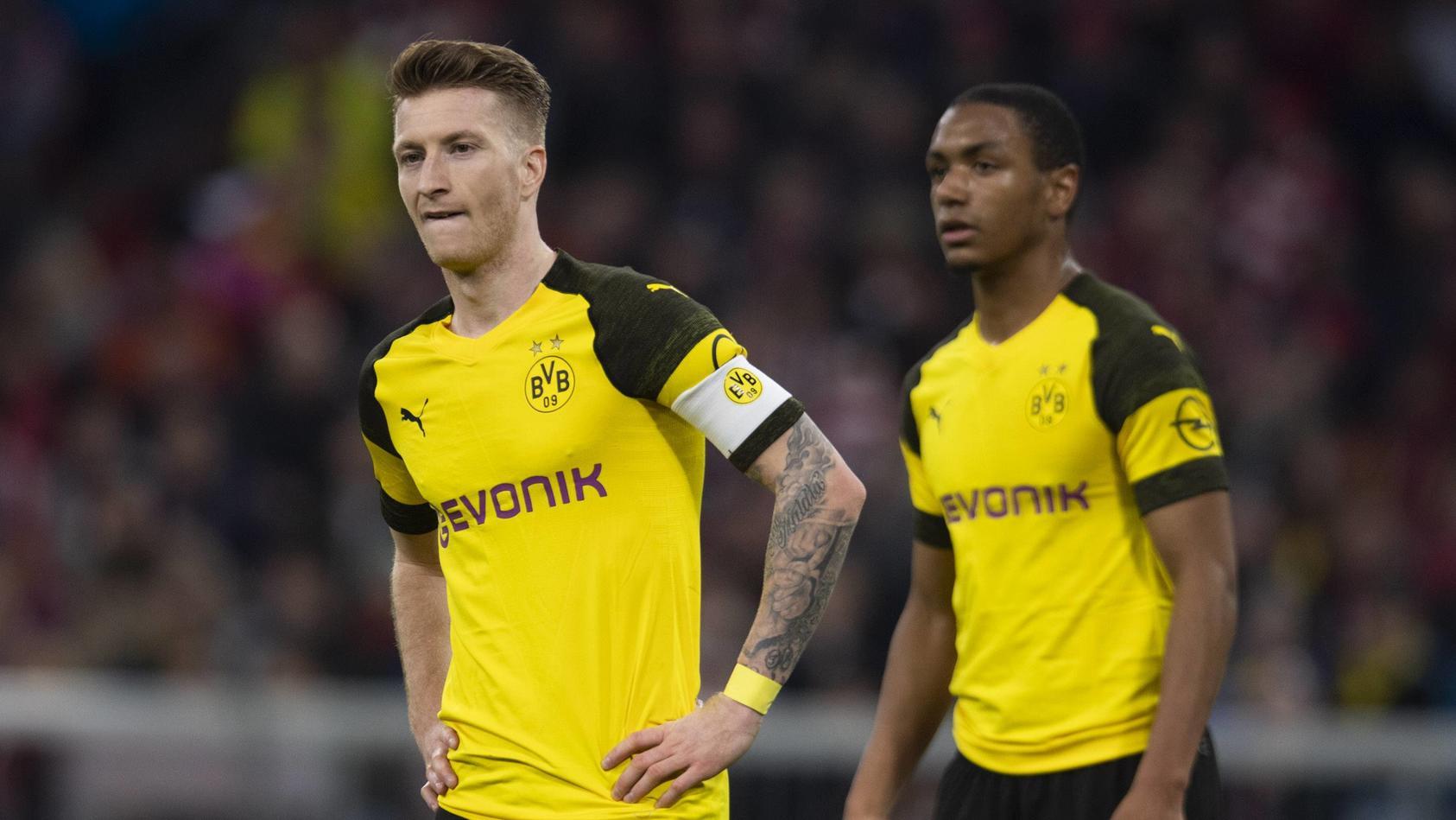FC Bayern vs Borussia Dortmund Allianz Arena Muenchen 06 04 2019 Im Bild Marco Reus *** FC B