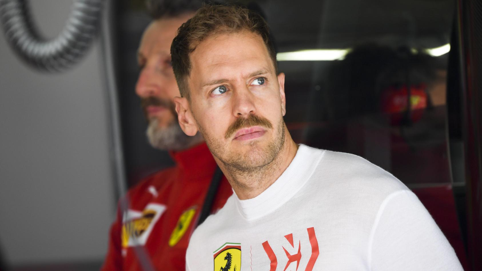 2019 Chinese GP SHANGHAI INTERNATIONAL CIRCUIT CHINA APRIL 13 Sebastian Vettel Ferrari during