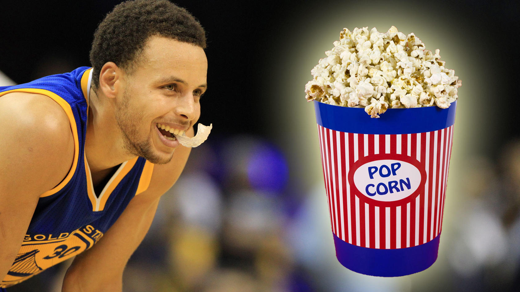 Stephen Curry liebt Popcorn