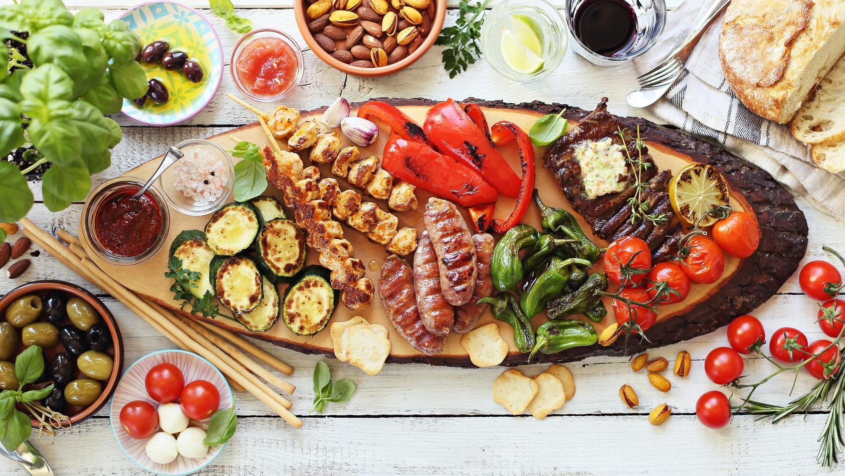 Mittelmeer-Diät verhindert Überfressen.