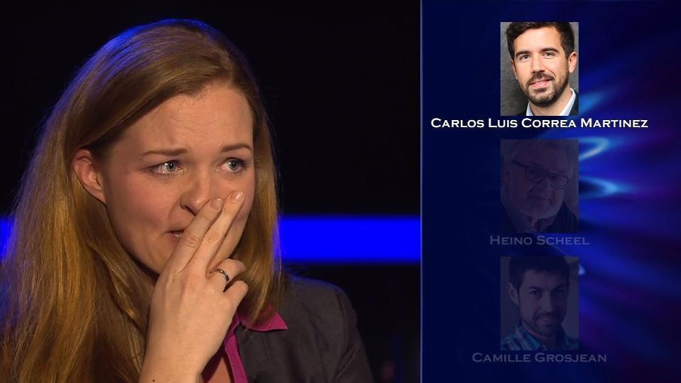 """Sie wartet vergebens darauf, dass ihr Telefonjoker rangeht: """"Wer wird Millionär?""""-Zocker-Kandidatin Hjördis Levnajic."""