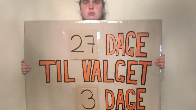 Der 19-jährige Däne Mikkel Brix ist im Kampf gegen die Klimakrise ist den Hungerstreik getreten. Foto: Mikkel Brix