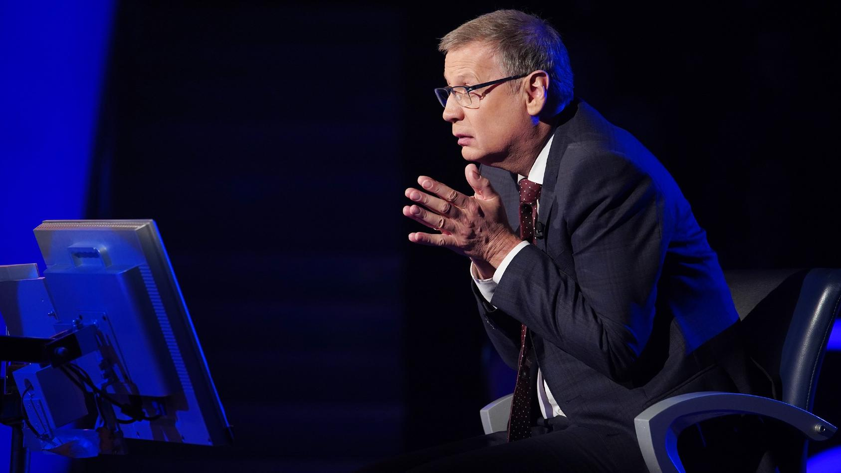 """""""Wer wird Millionär?""""-Moderator Günther Jauch fragt nicht nur Wissen ab."""
