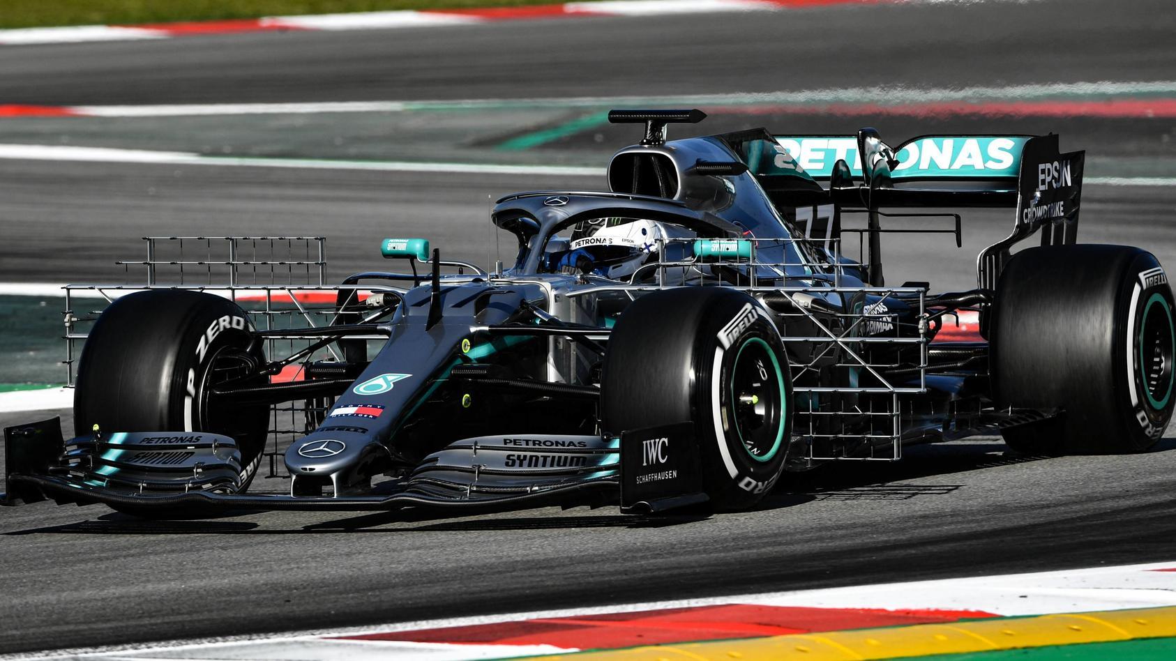 Valtteri Bottas fuhr im Mercedes am 1. Tag der Barcelona-Tests die schnellste Runde