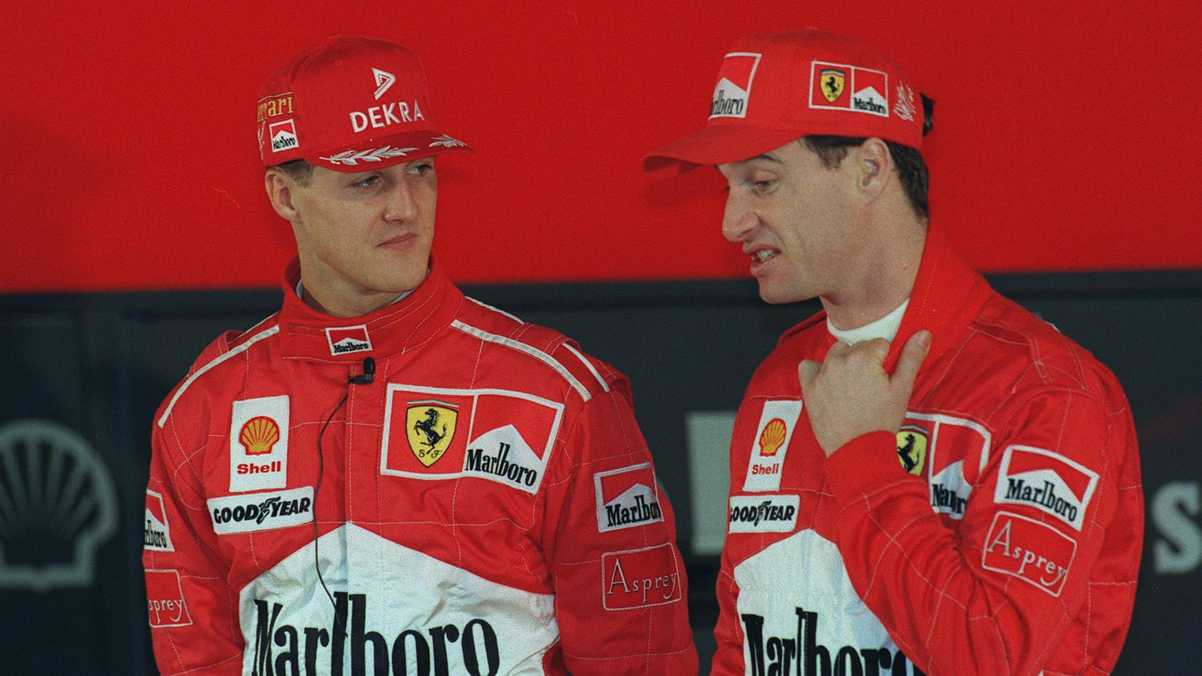 Waren Teamkollegen bei Ferrari: Michael Schumacher und Eddie Irvine