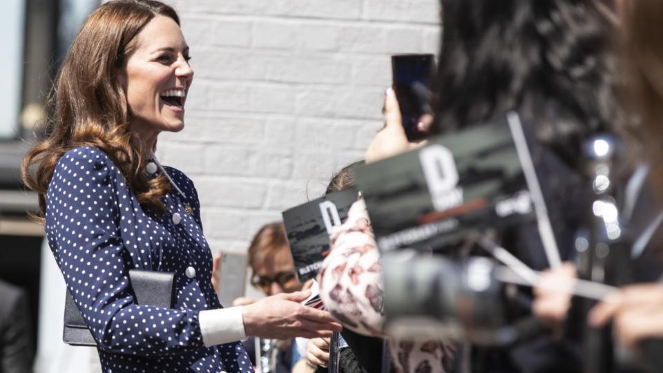 Herzogin Kate besuchte den Bletchley Park und plauderte über Prinz Louis.