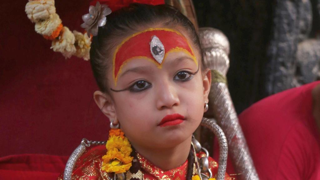 Kindsgöttin in Nepal