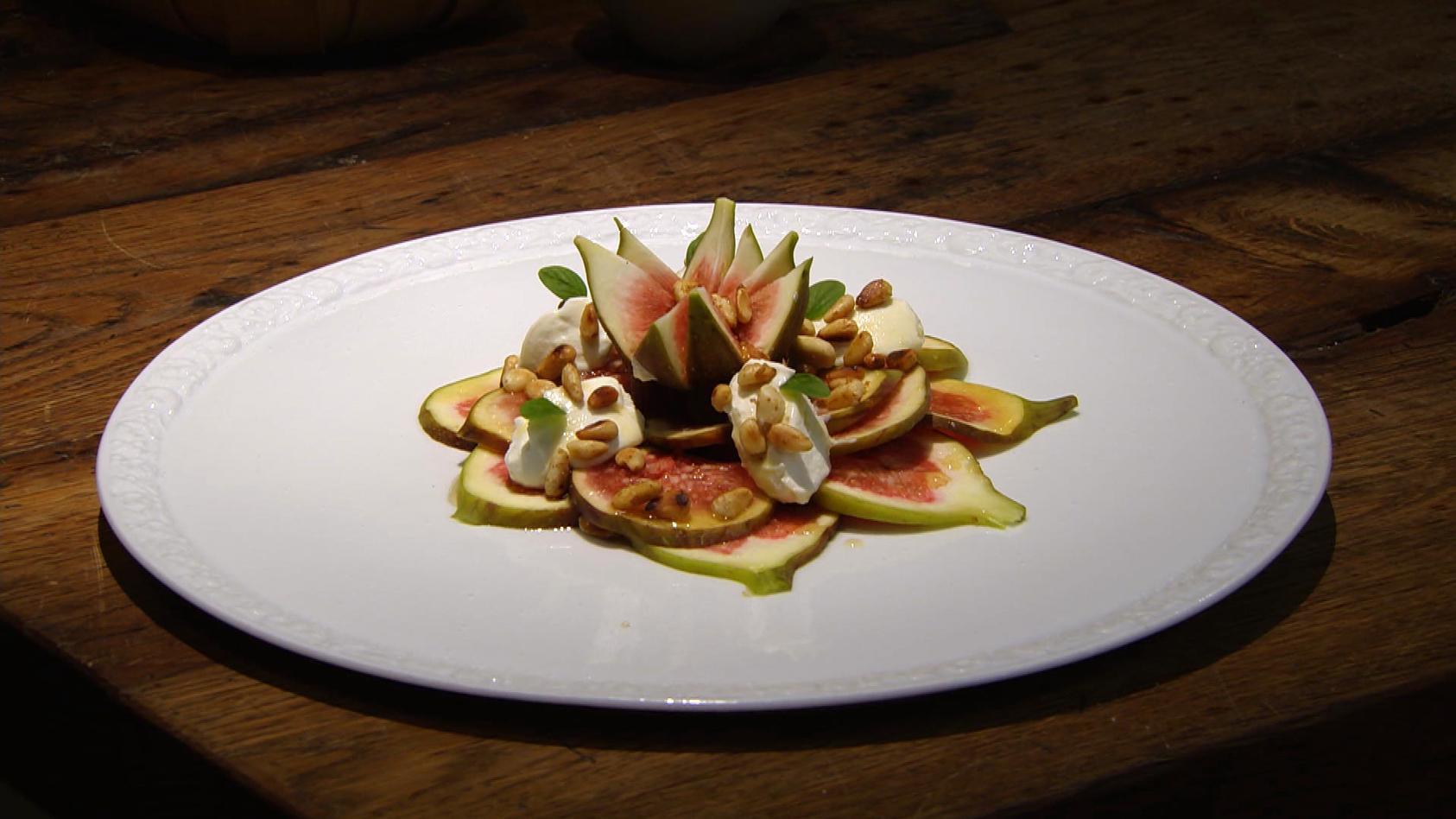 Romantisches Dinner – Liebe geht durch den Magen: Feigen-Carpaccio mit Ricotta