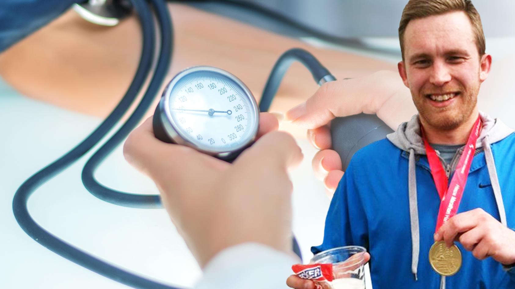 Viel in Bewegung, aber trotzdem chronisch krank: Unser Autor ist Bluthochdruck-Patient.