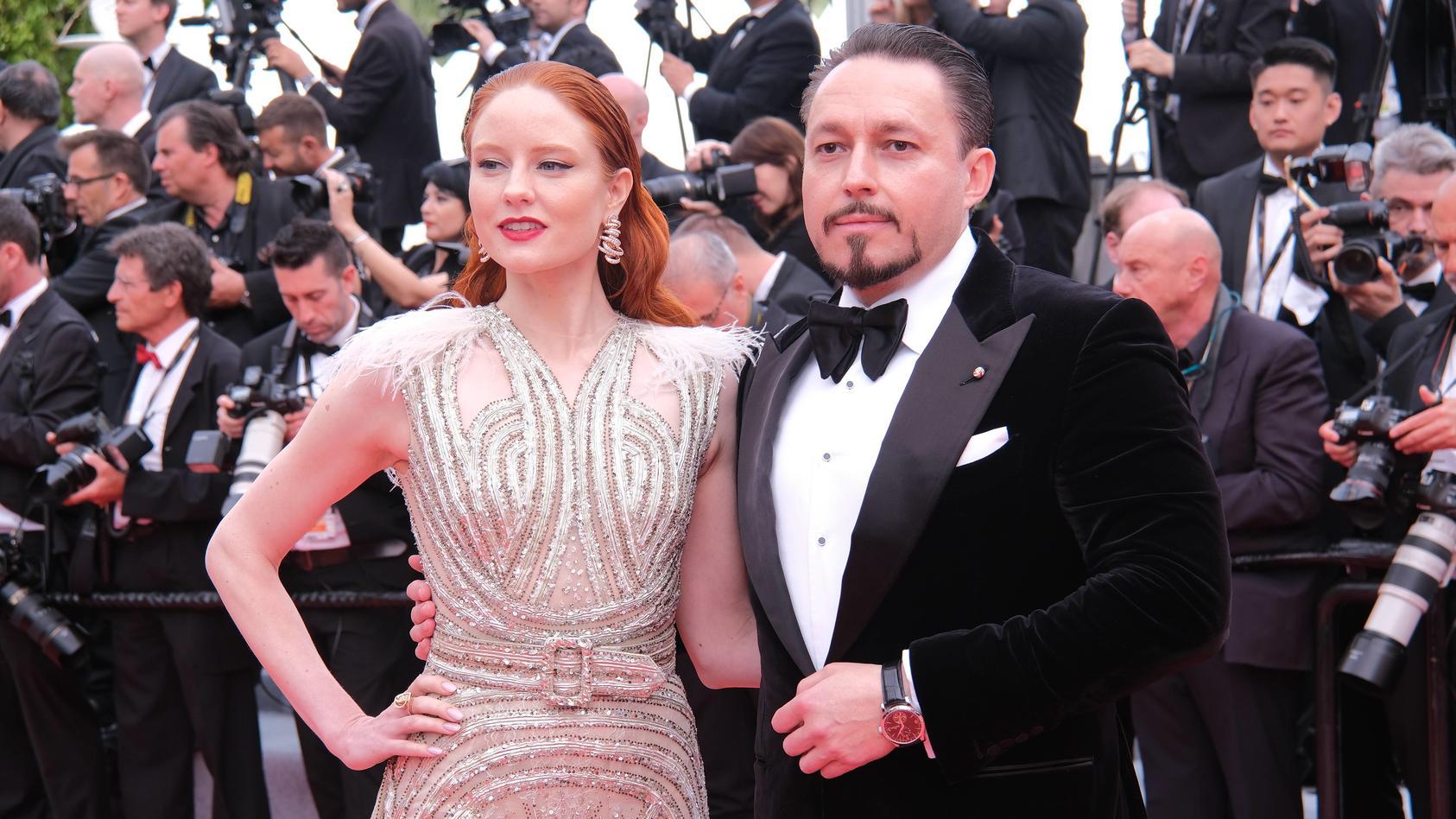 Barbara Meier und ihr Verlobter Klemens Hallmann bei den Filmfestspielen in Cannes