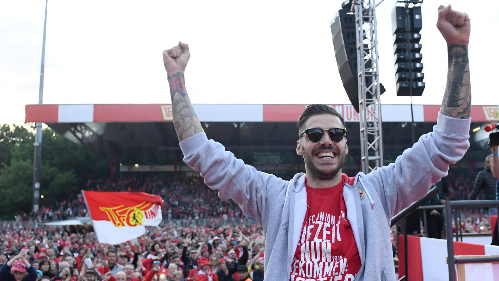 Union Berlin Celebrate Promotion To Bundesliga