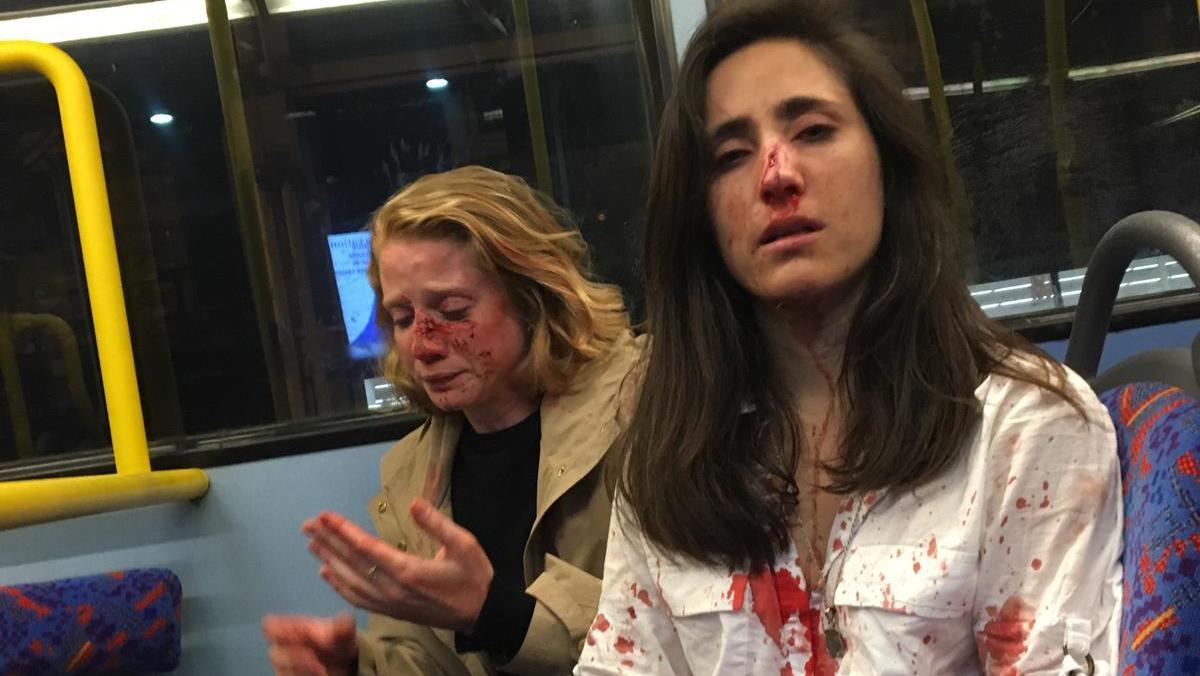 Melania Geymonat und ihre Freundin wurden im Nachtbus in London zusammengeschlagen.