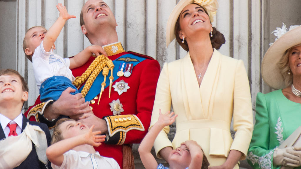 Familien-Stell-Dich-ein bei Trooping the Colour