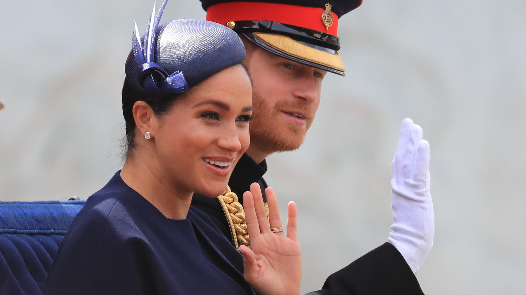 "Herzogin Meghan und Prinz Harry bei der ""Trooping the Colour""- Parade in London."