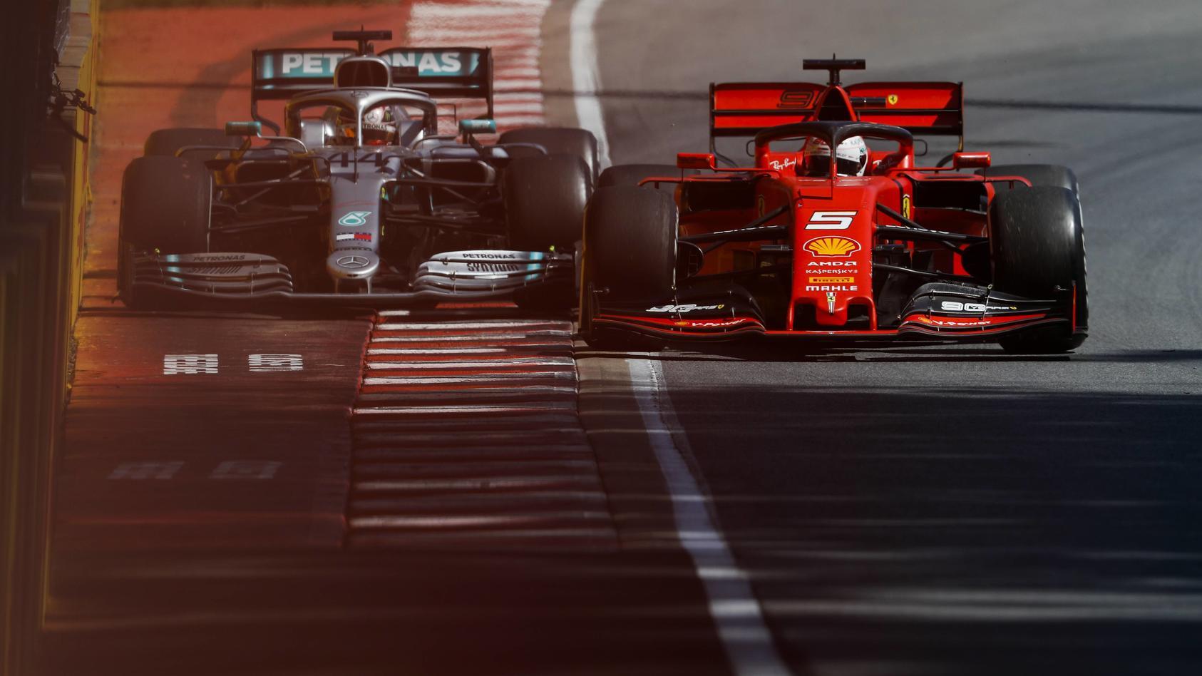 2019 Canadian GP CIRCUIT GILLES VILLENEUVE CANADA JUNE 09 Sebastian Vettel Ferrari SF90 and Le