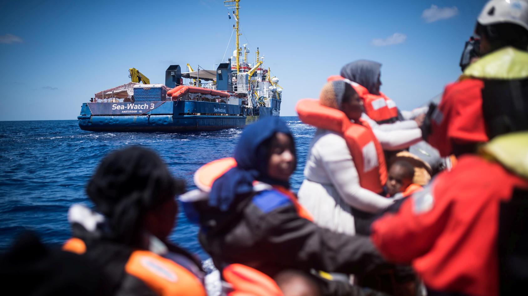 Sea Watch migrant rescue of Lampedusa coast
