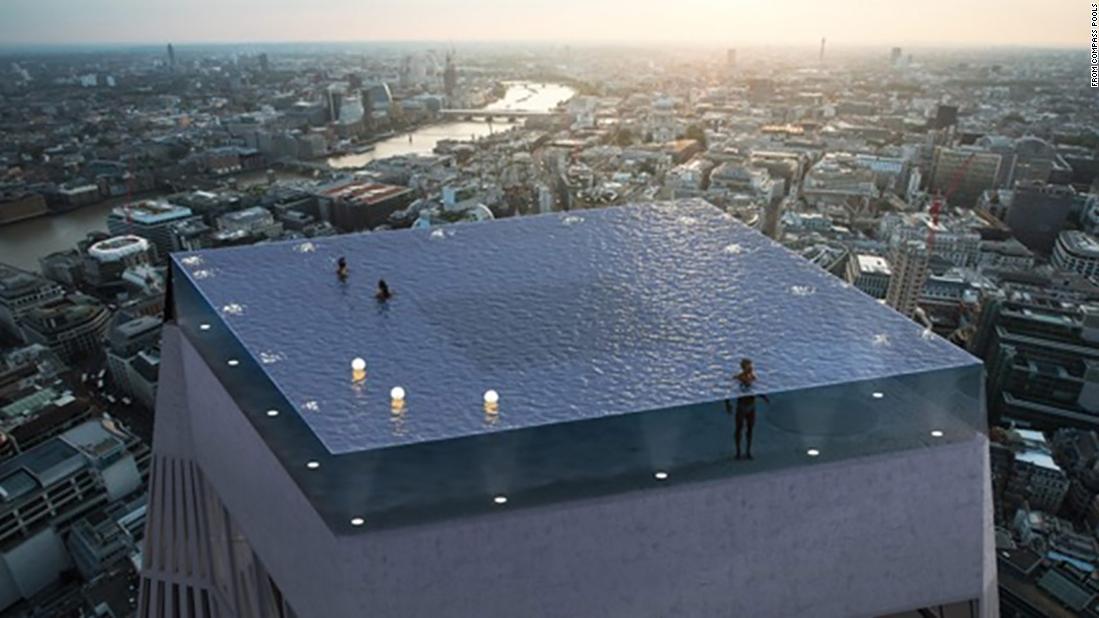 Das Unternehmen Compass Pool hat den spektakulären Infinity-Pool designt.
