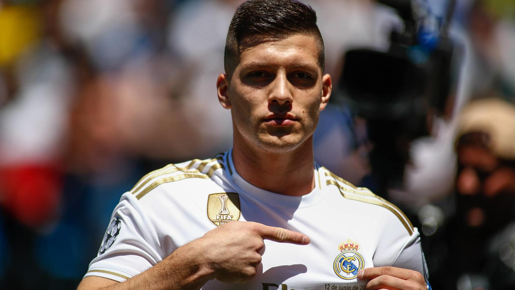 June 12 2019 Madrid MADRID SPAIN Luka Jovic during his presentation as new player of Real Mad