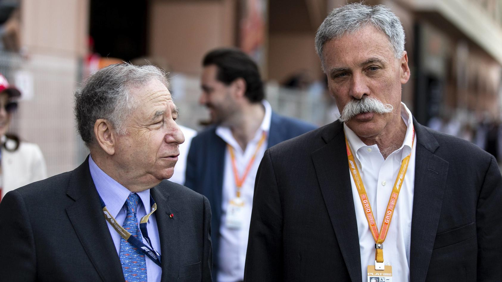 2019 Monaco GP MONTE CARLO MONACO MAY 26 Jean Todt President FIA and Chase Carey Chairman F