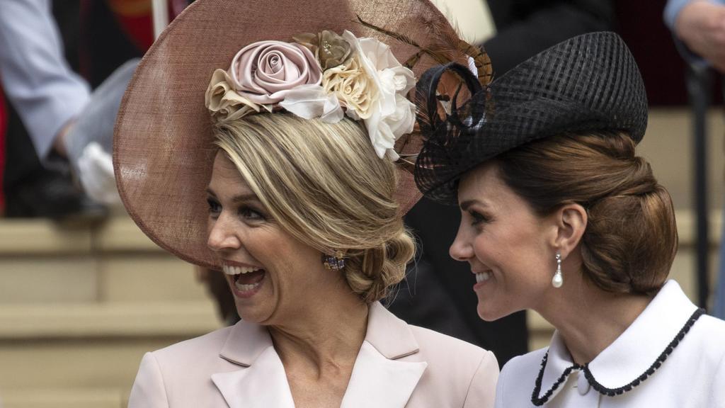 Máxima der Niederlande und Herzogin Kate hatten gute Laune.