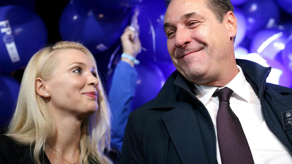 Philippa und Heinz-Christian Strache.