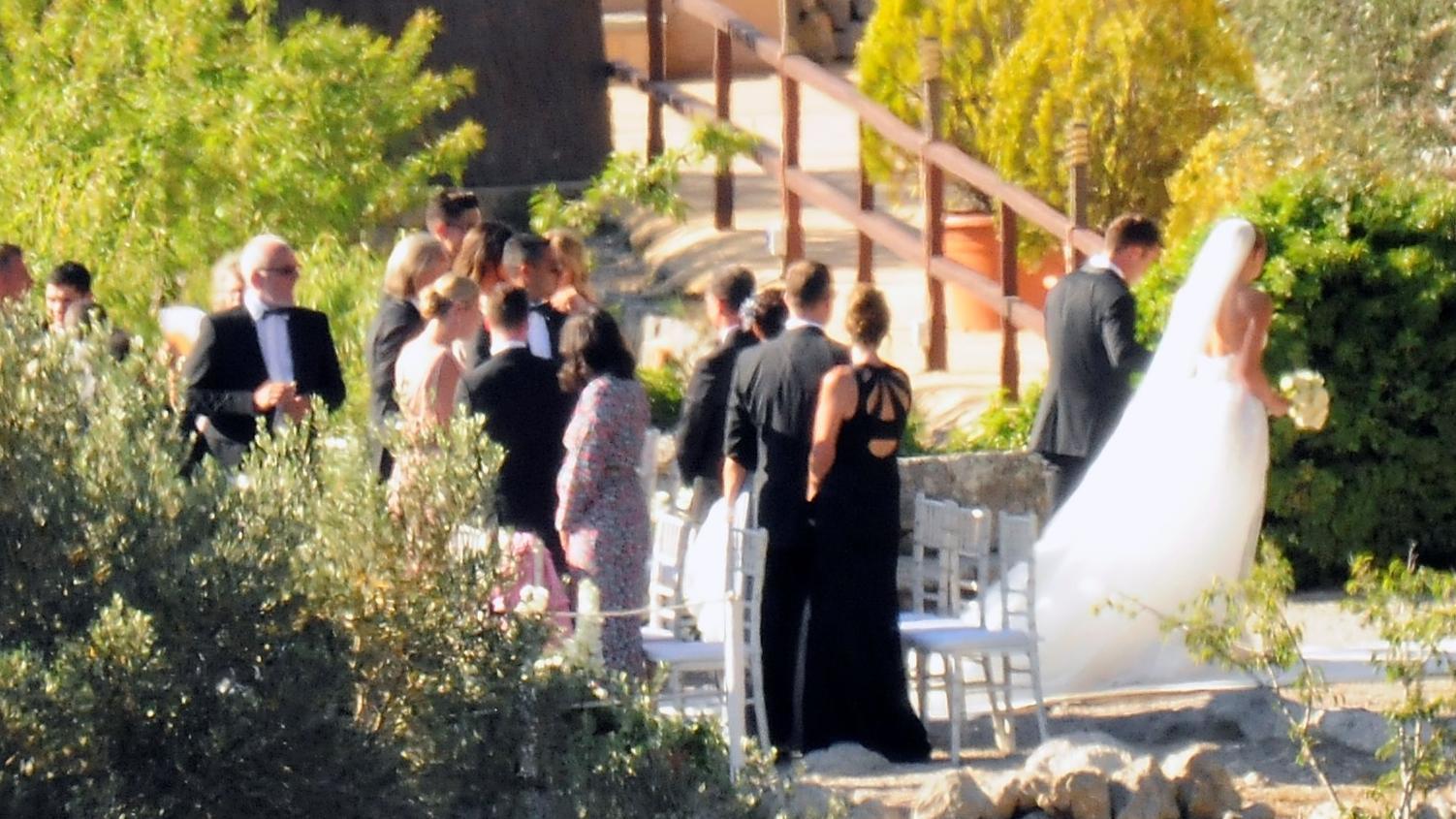 Mario und Ann-Kathrin Götze bei ihrer Hochzeit im Juni 2019 auf Mallorca.