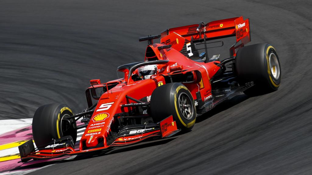 2019 French GP CIRCUIT PAUL RICARD, FRANCE - JUNE 23: Sebastian Vettel, Ferrari SF90 during the French GP at Circuit Paul Ricard on June 23, 2019 in Circuit Paul Ricard, France. (Photo by Joe Portlock / LAT Images) Images) PUBLICATIONxINxGERxSUIxAUTx