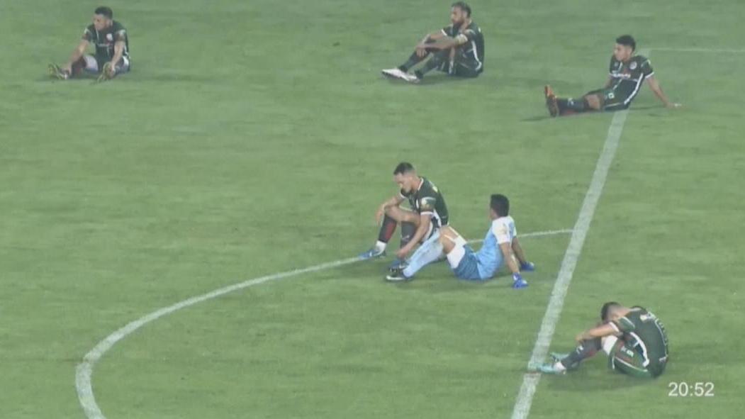 Argentinische Fussballspieler Starten Sitzstreik Wahrend