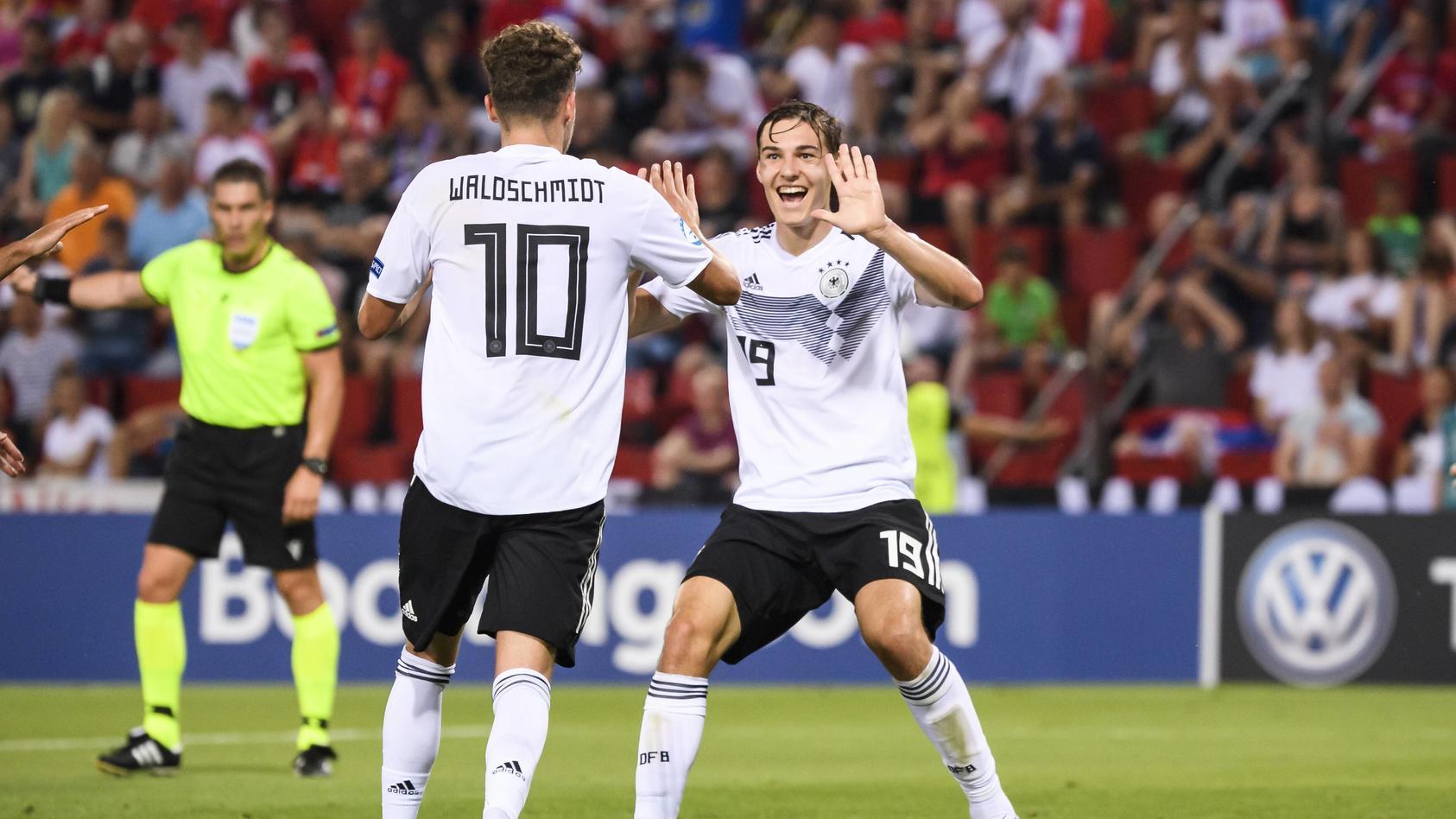 Auch gegen Rumänien wollen die DFB-Junioren wieder jubeln