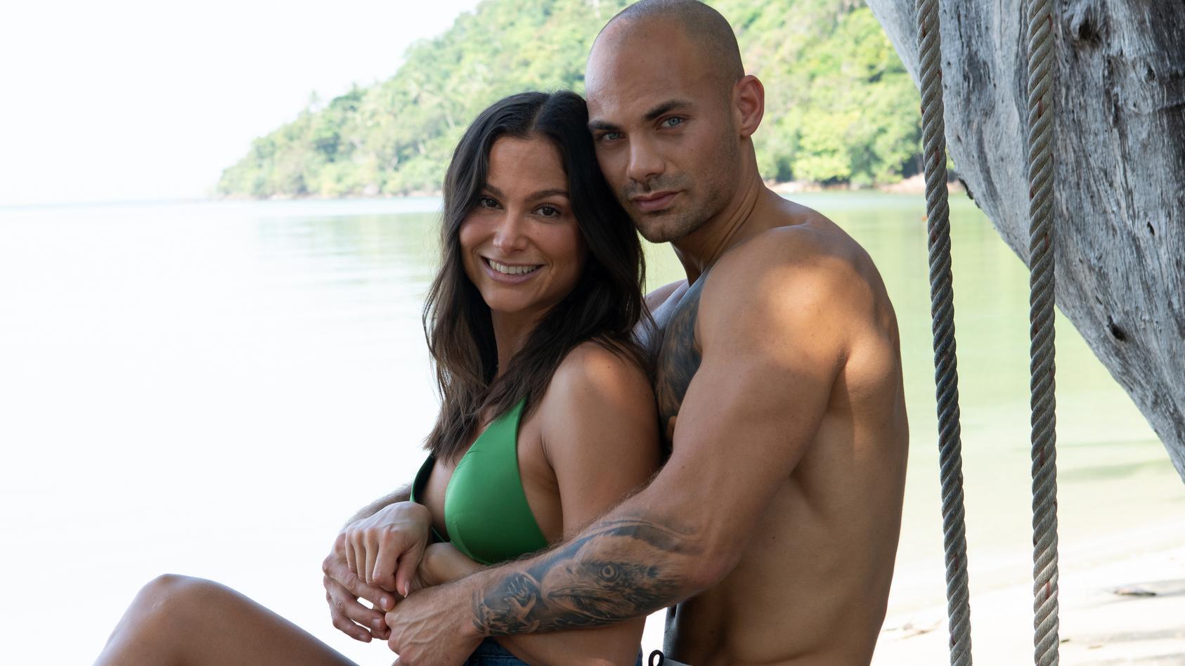 """Bei """"Temptation Island"""" haben Ziania Rubi und Fabian Nickel ihre Beziehung auf die Probe gestellt."""