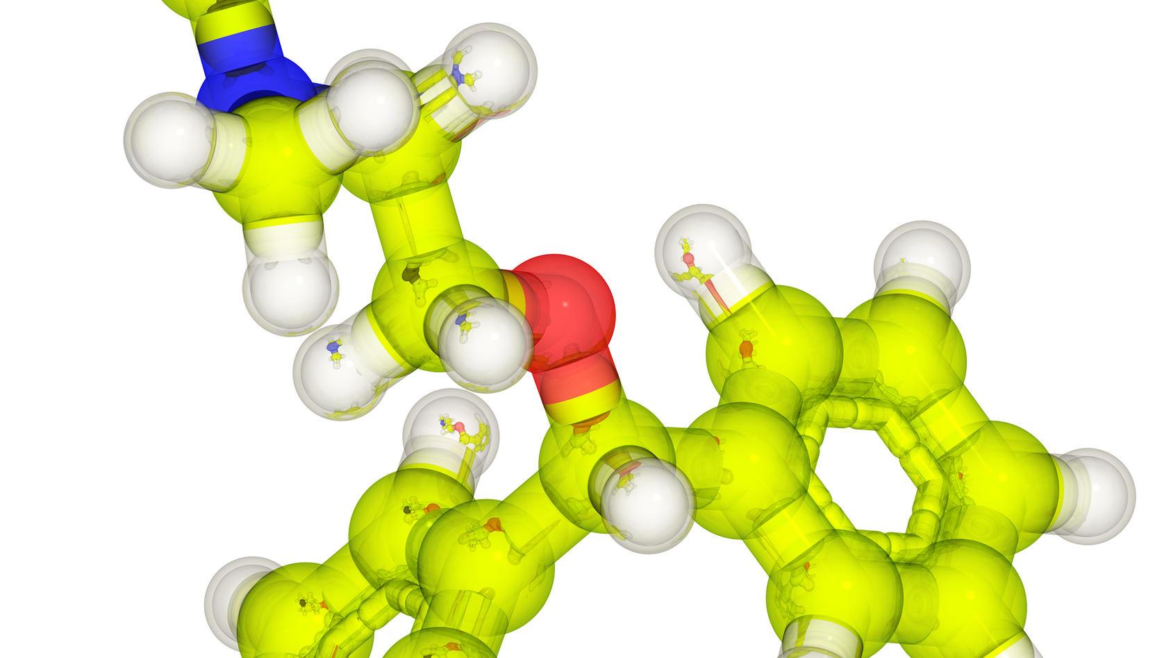 Diphenhydramin ist ein dämpfender, antiallergischer und anticholinerger Wirkstoff