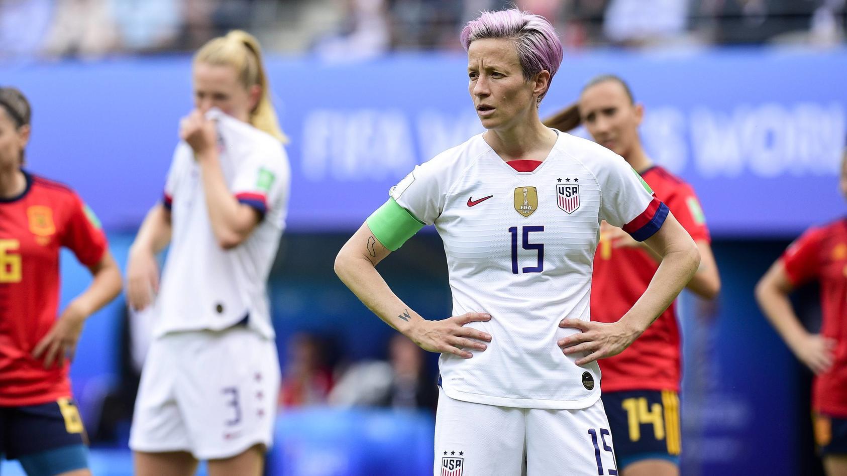 Megan RAPINOE USA FOOTBALL Espagne vs Etats Unis Coupe du Monde Feminine Reims 24 06 2019