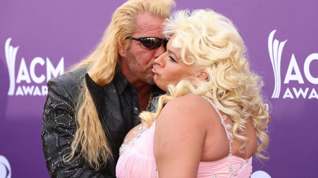 ***FILE PHOTO*** Beth Chapman, wife of Dog The Bounty Hunter, loses battle against throat cancer at the age of 51. . LAS VEGAS, NV - April 7: Duane and Beth Chapman pictured at 48th Annual Academy of Country Music Awards ACM Awards at MGM Grand on Ap