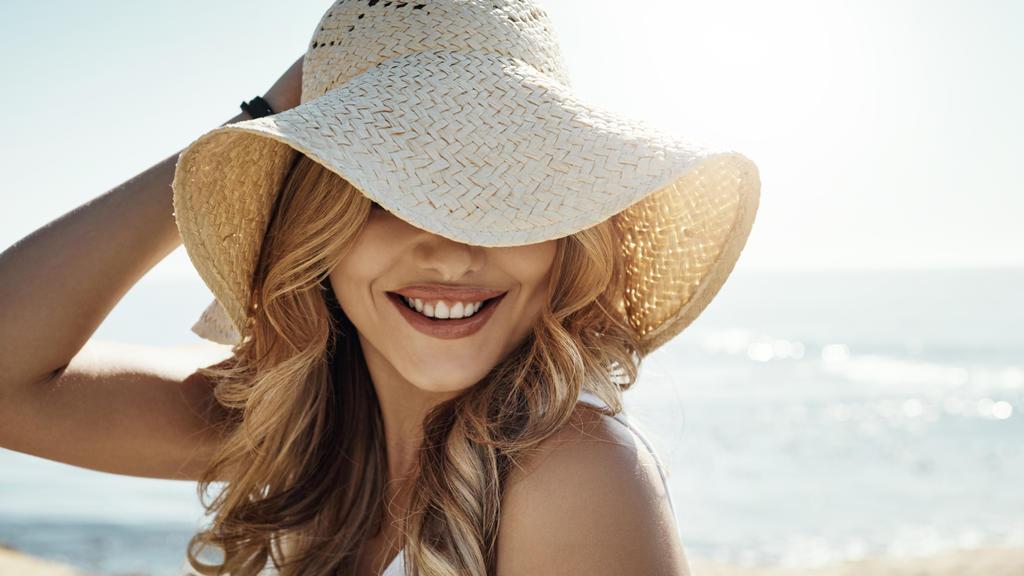 Strohhut gegen zu viel Sonne