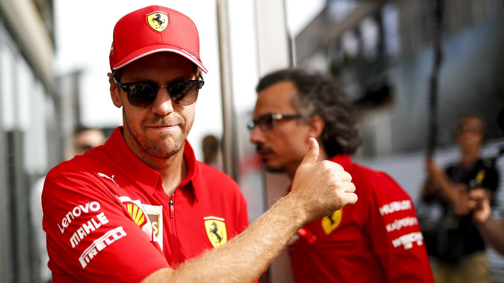 2019 German GP HOCKENHEIMRING GERMANY JULY 26 Sebastian Vettel Ferrari during the German GP at
