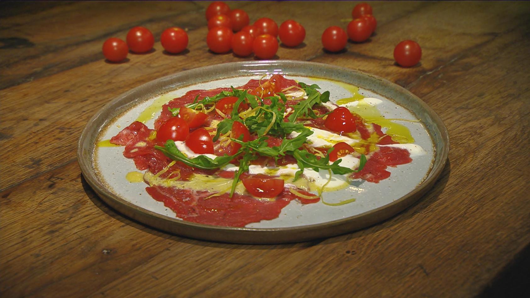 Edel aber einfach – Das perfekte Dinner für Zuhause: Rinder-Carpaccio