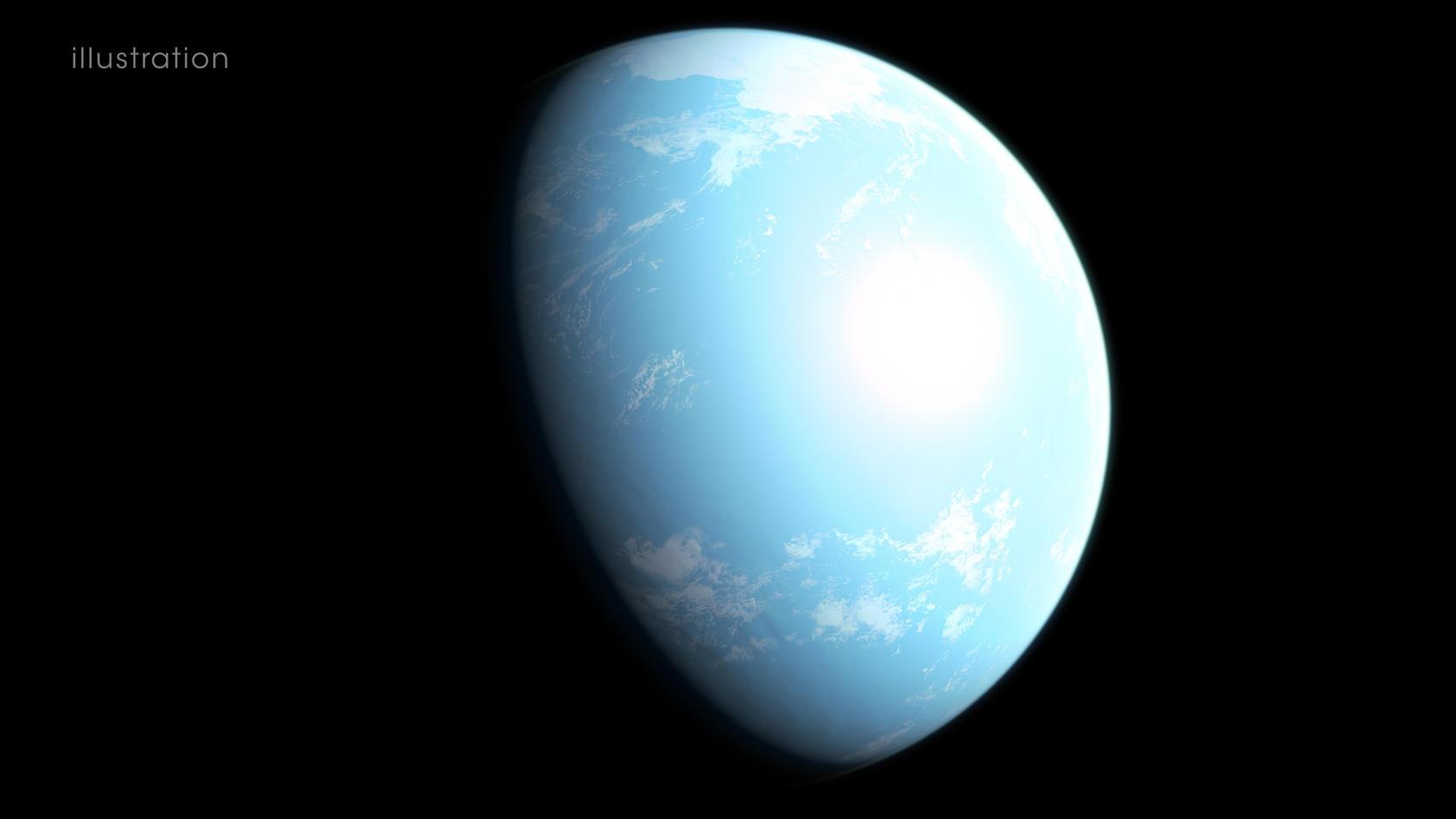 So stellen sich die Forscher die neue Erde GJ 357 d vor.