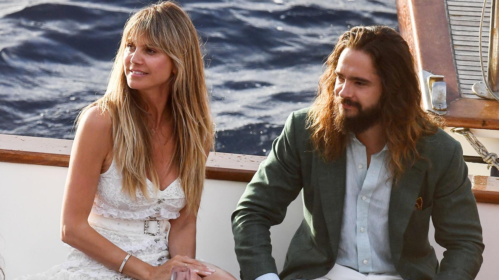 Heidi Klum und Tom Kaulitz auf dem Weg zu ihrer Pre-Wedding-Party.