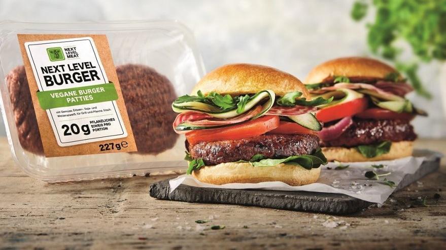 """Lidl bietet seit dem 1. August 2019 den """"Next Level Burger"""" an."""