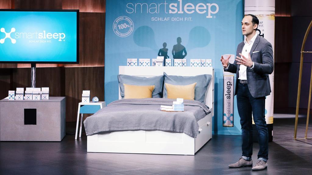"""Dr. Markus Dworak aus Nürnberg präsentiert mit """"Smartsleep"""" eine Lebensmittelergänzung die den Schlaf effektiver macht. Er erhofft sich ein Investment von 250.000 Euro für 10 Prozent der Anteile an seinem Unternehmen.."""
