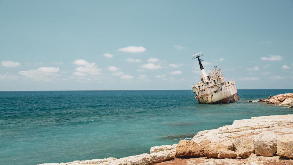 Das Frachtschiff EDRO III..