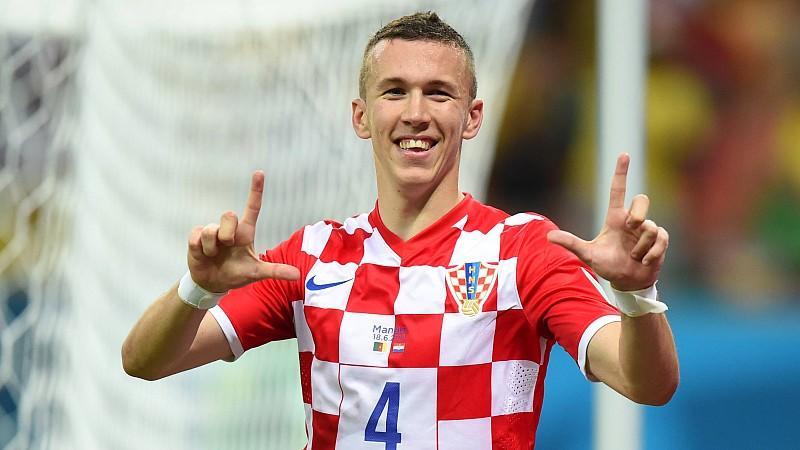 140618 MANAUS June 18 2014 Xinhua Croatia s Ivan Perisic celebrates a goal during a Grou
